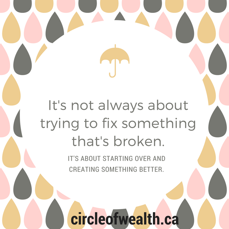 it'snot always about trying o fix something that's broken